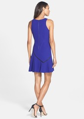 Betsey Johnson Trim Detail Fit & Flare Dress