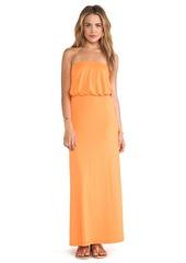 Susana Monaco Blouson Tube Dress in Orange