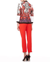 Etro Faux-Wrap Silk Blouse