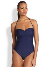 Shoshanna One-Piece Twist-Front Swimsuit