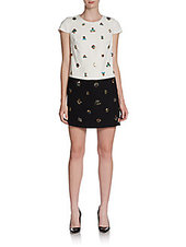 Cynthia Steffe Tori Embellished Colorblock Shift Dress