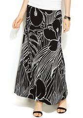 Alfani Tropical-Print Maxi Skirt