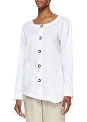 Go Silk Linen Asymmetric Shirt