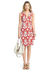New Yahzi Short Silk Jersey Wrap Dress