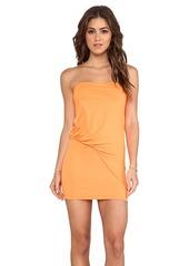 Susana Monaco Tube Tuck Dress in Orange