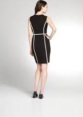 Calvin Klein black and ivory tank colorblock dress