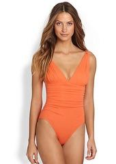 Carmen Marc Valvo One-Piece Mediterranean Swimsuit