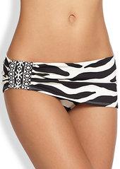 Carmen Marc Valvo Wild Side Skirted Bikini Bottom