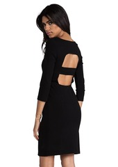 Catherine Malandrino Afra Cut Out Long Sleeve Ponte Dress in Black