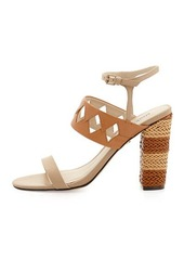 Charles David Jungle Woven Diamond Cutout Sandal