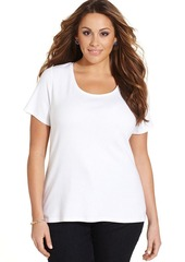 Charter Club Plus Size Pima-Cotton Scoop-Neck Tee