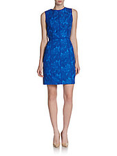 Cynthia Steffe Eleonora Floral Embroidered Lace Sheath Dress