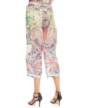 Etro Fern Paisley Patchwork Pants, White/Multi