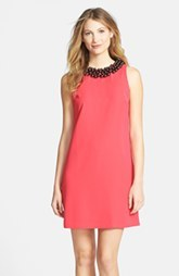 Cynthia Steffe Embellished Crepe Shift Dress