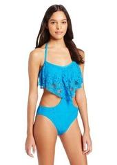Kenneth Cole Reaction Women's Island Fever Crop Top Halter Monokini