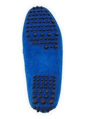 Manolo Blahnik Terry-Trimmed Suede Driver, Blue