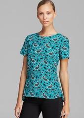 MICHAEL Michael Kors Print Peplum Back Shirt