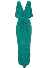 T-Bags Draped stretch-jersey maxi dress