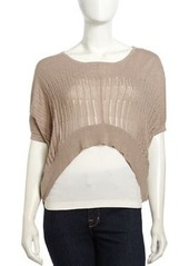 L.A.M.B. Cashmere Oversized Slub-Knit Sweater, Moka