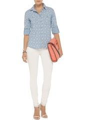 AG Jeans Collette floral-print chambray shirt