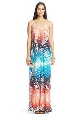 Annie Printed Silk Maxi Dress