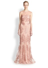 David Meister Lace Gown