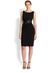 David Meister Lace-Inset Jersey Dress