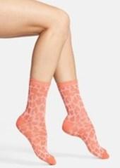 Nordstrom Leopard Spot Piqué Crew Socks