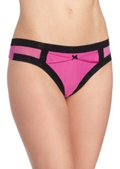 Betsey Johnson Women's Zipper Stripe Wide Side Thong Panty