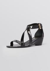 Delman Open Toe Wedge Sandals - Caryn