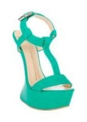 Giuseppe Zanotti Curved Wedge T-Strap Sandals