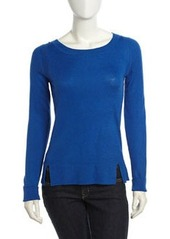 Isda & Co Long-Sleeve Ribbed Sweater, Baltic