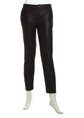 Catherine Malandrino Christy Floral Lace Tapered Trousers, Noir