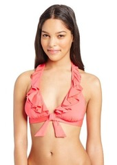 Kenneth Cole Reaction Women's Ruffle Halter Bikini top