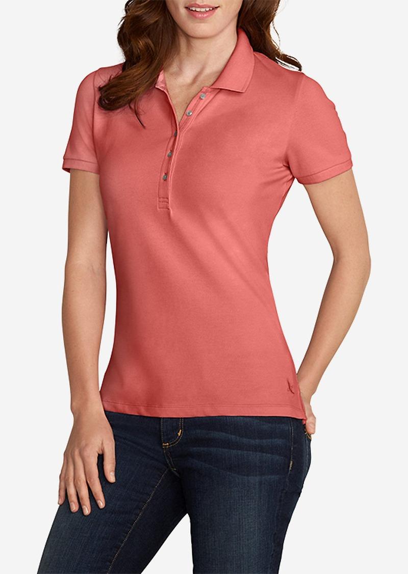 Eddie Bauer Women 39 S Short Sleeve Piqu Polo Shirt Casual