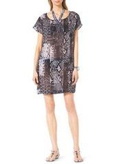 MICHAEL Michael Kors Snake-Print Coverup Dress