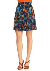 A-LINE PRINTED PLEAT SKIRT   A-LINE PRINTED PLEAT SKIRT