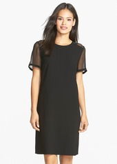 Elie Tahari 'Holland' Mesh Detail Crepe Shift Dress