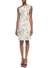 Emory Snake-Print Dress with Leather Shoulder Strap   Emory Snake-Print Dress with Leather Shoulder Strap