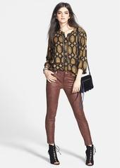 Ella Moss 'Elin' Marigold Print Lace Trim Blouse (Nordstrom Online Exclusive)