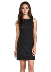 Ella Moss Frankie Dress with Leather Details in Charcoal