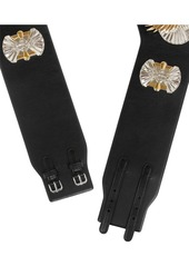Emilio Pucci Embellished leather waist belt