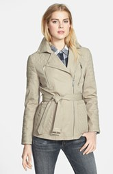 Kenneth Cole New York Asymmetrical Quilted Trench Coat