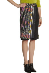 Etro Printed crepe pencil skirt