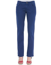 Etro Embroidered Boyfriend Jeans, Indigo