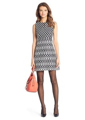 Yvette Diamond Print A-Line Mini Dress