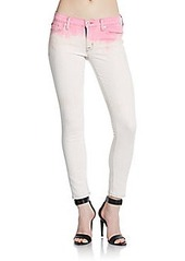 Hudson Dip-Dyed Super Skinny Cropped Jeans