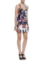 Trendy Tropics Floral-Print Silk Dress   Trendy Tropics Floral-Print Silk Dress