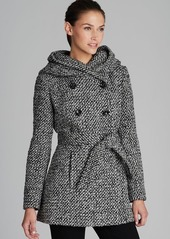Calvin Klein Coat - Belted City Tweed