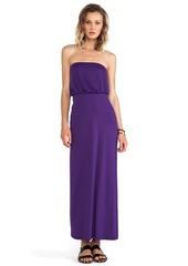 Susana Monaco Blouson Strapless Dress in Purple